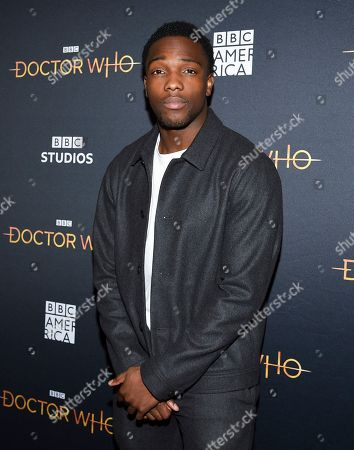 "Tosin Cole attends a special screening of BBC America's ""Doctor Who"" at the Paley Center for Media, in New York"