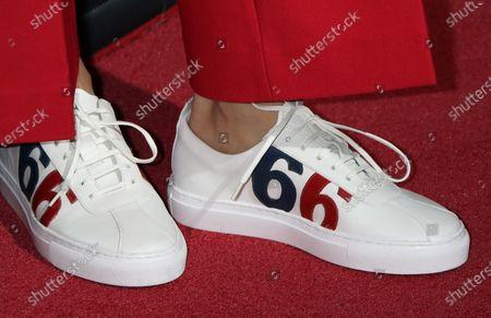 Mandip Gill, shoe detail