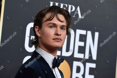 Ansel Elgort arrives at the 77th annual Golden Globe Awards at the Beverly Hilton Hotel, in Beverly Hills, Calif
