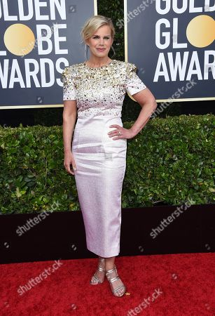 Gretchen Carlson arrives at the 77th annual Golden Globe Awards at the Beverly Hilton Hotel, in Beverly Hills, Calif