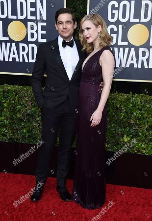 Jason Ralph, Rachel Brosnahan. Jason Ralph, left, and Rachel Brosnahan arrive at the 77th annual Golden Globe Awards at the Beverly Hilton Hotel, in Beverly Hills, Calif