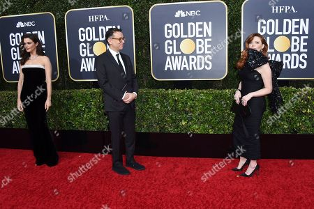 Rachel Weisz, Fred Armisen, Natasha Lyonne. Rachel Weisz, from left, Fred Armisen, and Natasha Lyonne arrive at the 77th annual Golden Globe Awards at the Beverly Hilton Hotel, in Beverly Hills, Calif