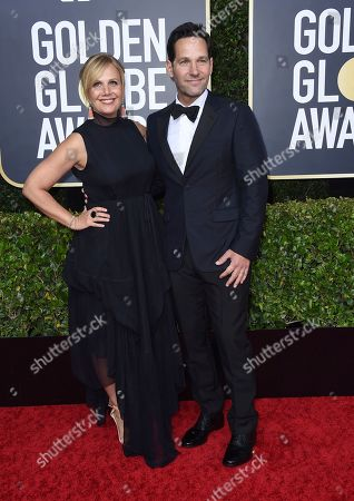 Julie Yaeger, Paul Rudd. Julie Yaeger, left, and Paul Rudd arrive at the 77th annual Golden Globe Awards at the Beverly Hilton Hotel, in Beverly Hills, Calif