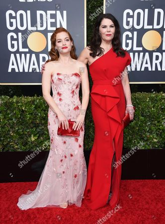 Jane Levy, Lauren Graham. Jane Levy, left, and Lauren Graham arrive at the 77th annual Golden Globe Awards at the Beverly Hilton Hotel, in Beverly Hills, Calif