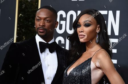 LaQuan Smith, Winnie Harlow. LaQuan Smith, left, and Winnie Harlow arrive at the 77th annual Golden Globe Awards at the Beverly Hilton Hotel, in Beverly Hills, Calif
