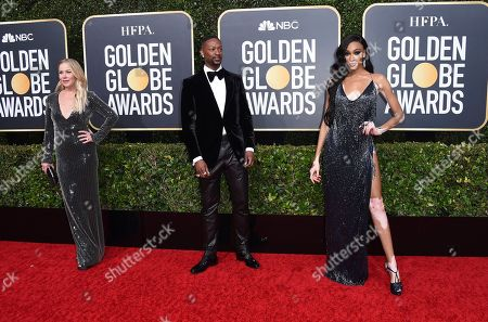Christina Applegate, from left, LaQuan Smith, and Winnie Harlow