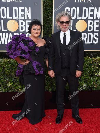 Dexter Fletcher, Dalia Ibelhauptaite. Dexter Fletcher, right, and Dalia Ibelhauptaite arrive at the 77th annual Golden Globe Awards at the Beverly Hilton Hotel, in Beverly Hills, Calif
