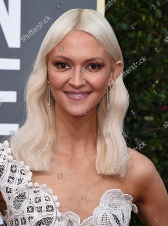 Zanna Roberts Rassi arrives at the 77th annual Golden Globe Awards at the Beverly Hilton Hotel, in Beverly Hills, Calif