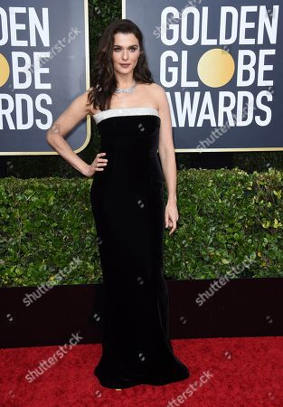 Rachel Weisz arrives at the 77th annual Golden Globe Awards at the Beverly Hilton Hotel, in Beverly Hills, Calif