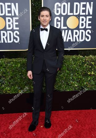 Michael Zegen arrives at the 77th annual Golden Globe Awards at the Beverly Hilton Hotel, in Beverly Hills, Calif