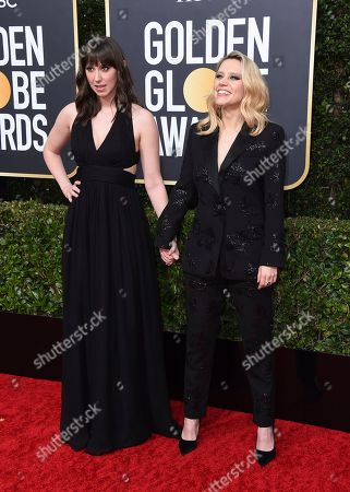 Kate McKinnon, Emily Lynne Berthold. Kate McKinnon, right, and her sister Emily Lynne Berthold arrive at the 77th annual Golden Globe Awards at the Beverly Hilton Hotel, in Beverly Hills, Calif