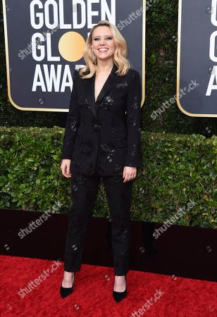 Kate McKinnon arrives at the 77th annual Golden Globe Awards at the Beverly Hilton Hotel, in Beverly Hills, Calif