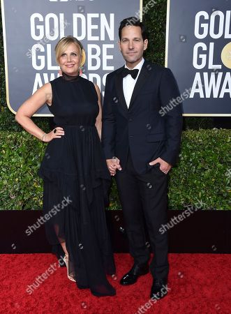 Julie Yaeger, Paul Rudda. Julie Yaeger, left, and Paul Rudda arrive at the 77th annual Golden Globe Awards at the Beverly Hilton Hotel, in Beverly Hills, Calif