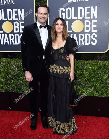 Bill Hader, Rachel Bilson. Bill Hader, left, and Rachel Bilson arrive at the 77th annual Golden Globe Awards at the Beverly Hilton Hotel, in Beverly Hills, Calif