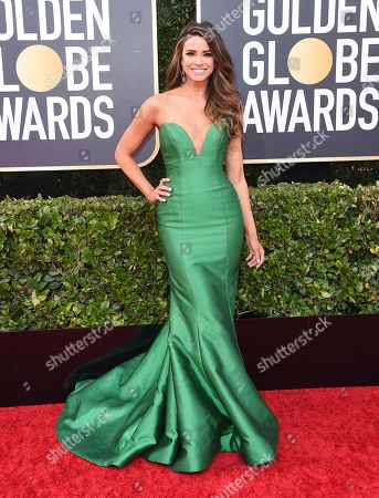 Jennifer Lahmers arrives at the 77th annual Golden Globe Awards at the Beverly Hilton Hotel, in Beverly Hills, Calif