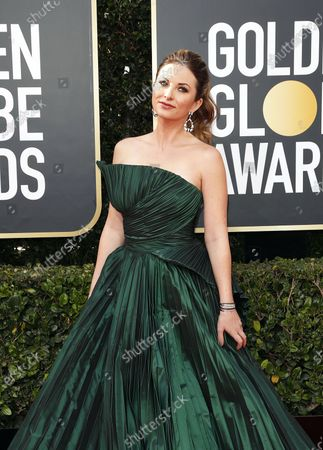 Lauren Zima arrives for the 77th annual Golden Globe Awards ceremony at the Beverly Hilton Hotel, in Beverly Hills, California, USA, 05 January 2020.