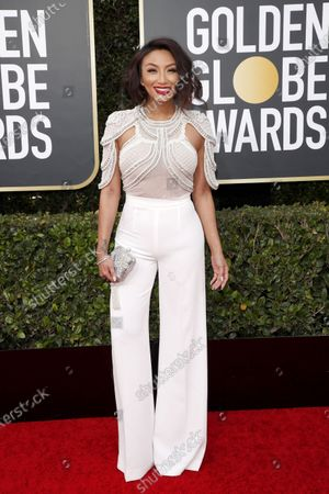 Jeannie Mai arrives for the 77th annual Golden Globe Awards ceremony at the Beverly Hilton Hotel, in Beverly Hills, California, USA, 05 January 2020.