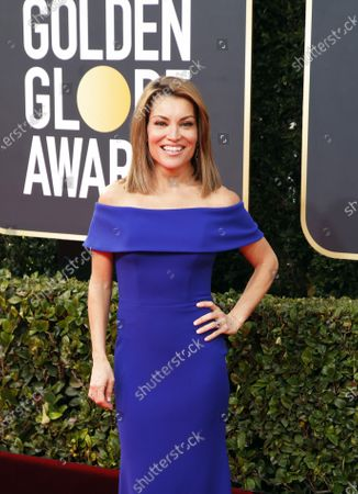 Kit Hoover arrives for the 77th annual Golden Globe Awards ceremony at the Beverly Hilton Hotel, in Beverly Hills, California, USA, 05 January 2020.