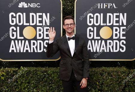 Stock Picture of Brad Goreski arrives for the 77th annual Golden Globe Awards ceremony at the Beverly Hilton Hotel, in Beverly Hills, California, USA, 05 January 2020.
