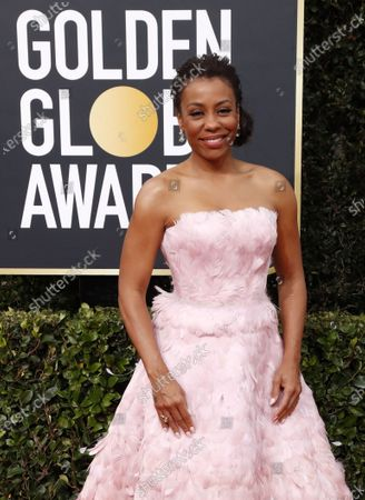 Karen Pittman arrives for the 77th annual Golden Globe Awards ceremony at the Beverly Hilton Hotel, in Beverly Hills, California, USA, 05 January 2020.