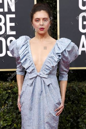 Bel Powley arrives for the 77th annual Golden Globe Awards ceremony at the Beverly Hilton Hotel, in Beverly Hills, California, USA, 05 January 2020.