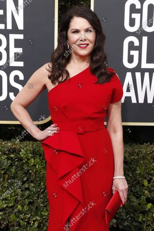 Lauren Graham arrives for the 77th annual Golden Globe Awards ceremony at the Beverly Hilton Hotel, in Beverly Hills, California, USA, 05 January 2020.