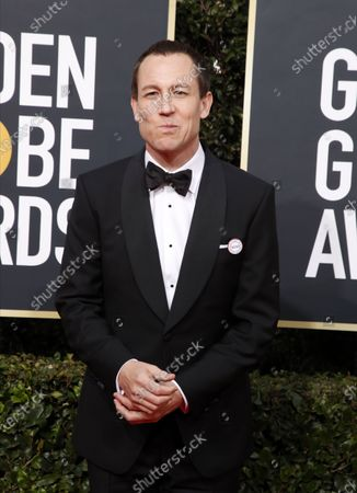 Tobias Menzies arrives for the 77th annual Golden Globe Awards ceremony at the Beverly Hilton Hotel, in Beverly Hills, California, USA, 05 January 2020.