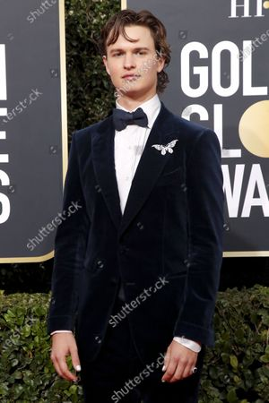 Ansel Elgort arrives for the 77th annual Golden Globe Awards ceremony at the Beverly Hilton Hotel, in Beverly Hills, California, USA, 05 January 2020.