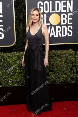 Michelle Pfeiffer arrives for the 77th annual Golden Globe Awards ceremony at the Beverly Hilton Hotel, in Beverly Hills, California, USA, 05 January 2020.