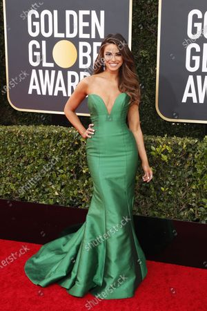 Jennifer Lahmers arrives for the 77th annual Golden Globe Awards ceremony at the Beverly Hilton Hotel, in Beverly Hills, California, USA, 05 January 2020.