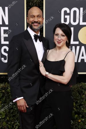 Keegan-Michael Key and Elisa Key arrive for the 77th annual Golden Globe Awards ceremony at the Beverly Hilton Hotel, in Beverly Hills, California, USA, 05 January 2020.