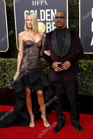 Eddie Murphy and Paige Butcher arrive for the 77th annual Golden Globe Awards ceremony at the Beverly Hilton Hotel, in Beverly Hills, California, USA, 05 January 2020.