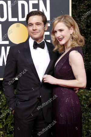 Rachel Brosnahan and Jason Ralph arrive for the 77th annual Golden Globe Awards ceremony at the Beverly Hilton Hotel, in Beverly Hills, California, USA, 05 January 2020.