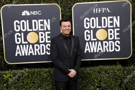 Seth MacFarlane arrives for the 77th annual Golden Globe Awards ceremony at the Beverly Hilton Hotel, in Beverly Hills, California, USA, 05 January 2020.