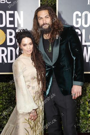 Jason Momoa and Lisa Bonet arrive for the 77th annual Golden Globe Awards ceremony at the Beverly Hilton Hotel, in Beverly Hills, California, USA, 05 January 2020.