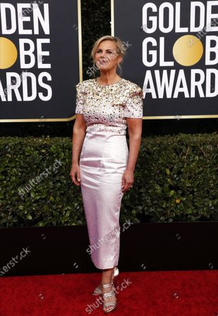 Gretchen Carlson arrives for the 77th annual Golden Globe Awards ceremony at the Beverly Hilton Hotel, in Beverly Hills, California, USA, 05 January 2020.