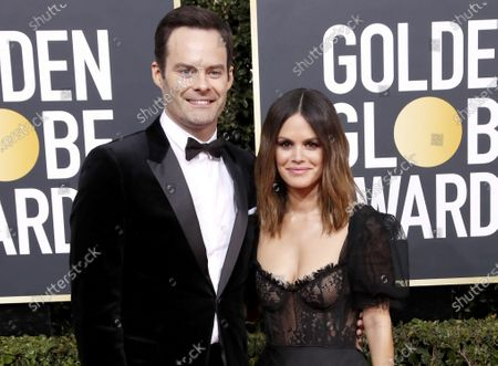Bill Hader (L) and Rachel Bilson arrive for the 77th annual Golden Globe Awards ceremony at the Beverly Hilton Hotel, in Beverly Hills, California, USA, 05 January 2020 (issued 06 January).