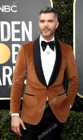 Stock Image of AJ Gibson arrives for the 77th annual Golden Globe Awards ceremony at the Beverly Hilton Hotel, in Beverly Hills, California, USA, 05 January 2020.