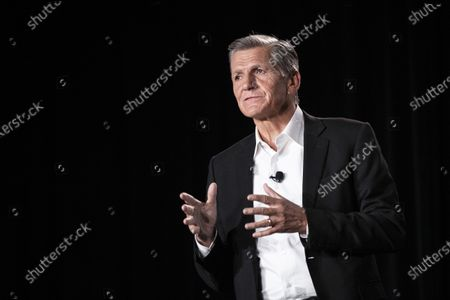 P&G (Procter & Gamble) chief brand officer Marc Pritchard delivers a speech during the P&G press conference at the 2020 International Consumer Electronics Show (CES) in Las Vegas, Nevada, USA, 05 January 2020. The annual CES, which takes place from 07 January to 10 January, is a place where manufacturers, advertisers and tech-minded consumers converge to see new innovations coming to market.