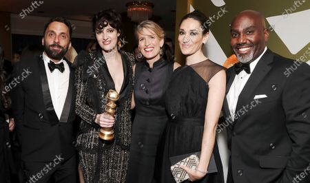 Stock Picture of Ryan Andolina, Phoebe Waller-Bridge, Jenny Robins, Sian Clifford and Vernon Sanders attend the Amazon Prime Video Golden Globe Awards Post Show Celebration