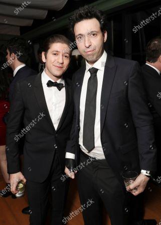 Michael Zegen and Alex Karpovsky attend the Amazon Prime Video Golden Globe Awards Post Show Celebration