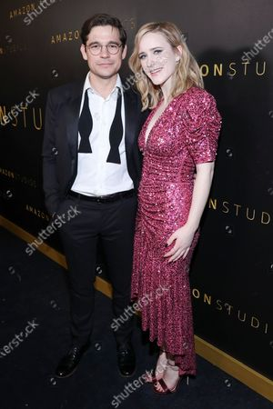 Jason Ralph and Rachel Brosnahan attend Amazon Prime Video Golden Globe Awards Post Show Celebration