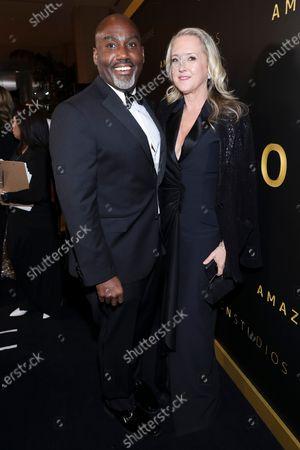 Vernon Sanders and Jennifer Salke attend the Amazon Prime Video Golden Globe Awards Post Show Celebration