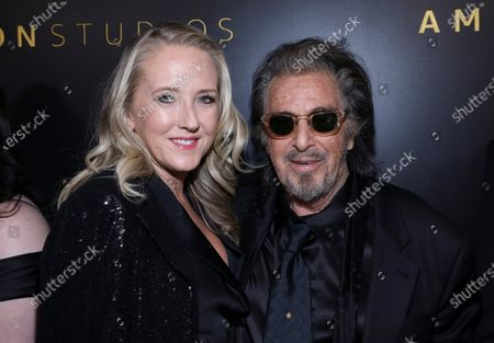 Jennifer Salke and Al Pacino attend the Amazon Prime Video Golden Globe Awards Post Show Celebration