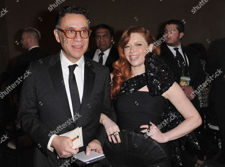Fred Armisen, Natasha Lyonne. Fred Armisen, left, and Natasha Lyonne attend the 77th annual Golden Globe Awards at the Beverly Hilton Hotel, in Beverly Hills, Calif