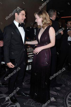 Jason Ralph, Rachel Brosnahan. Jason Ralph, left, and Rachel Brosnahan attend the 77th annual Golden Globe Awards at the Beverly Hilton Hotel, in Beverly Hills, Calif