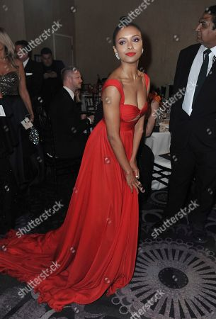 Kat Graham attends the 77th annual Golden Globe Awards at the Beverly Hilton Hotel, in Beverly Hills, Calif