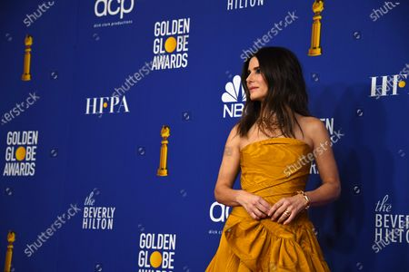 Sandra Bullock poses in the press room during the 77th annual Golden Globe Awards ceremony at the Beverly Hilton Hotel, in Beverly Hills, California, USA, 05 January 2020.