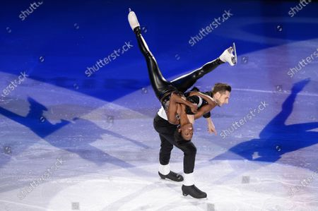 Stock Picture of Vanessa James and Morgan Cipres from France