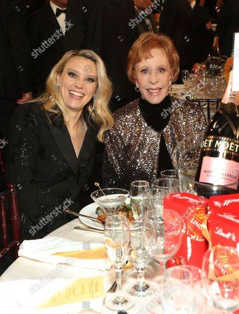 Kate McKinnon, Carol Burnett. Kate McKinnon, left, and Carol Burnett at the 77th annual Golden Globe Awards at the Beverly Hilton Hotel, in Beverly Hills, Calif